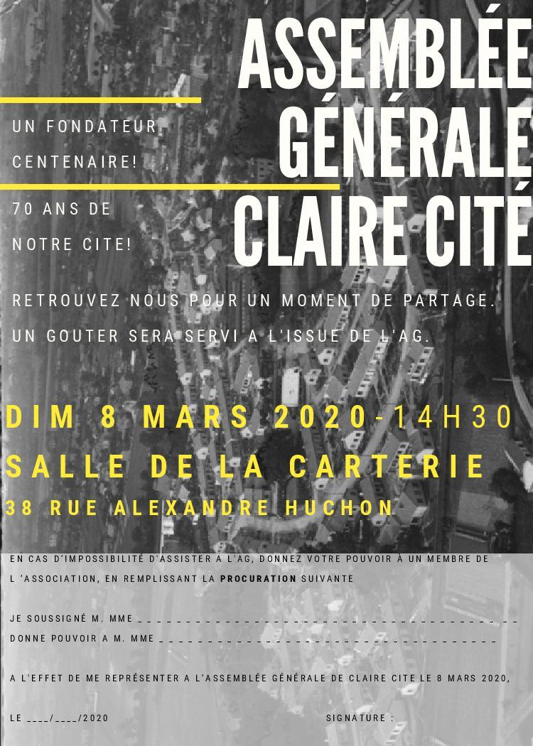 AG Claire Cité 2020